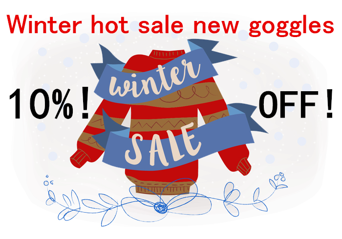 The customers can get 10% off discount about new style wholesale goggles