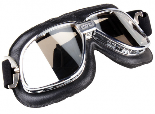 Wholesale CE certificated retro motorcycle goggles with clear lens
