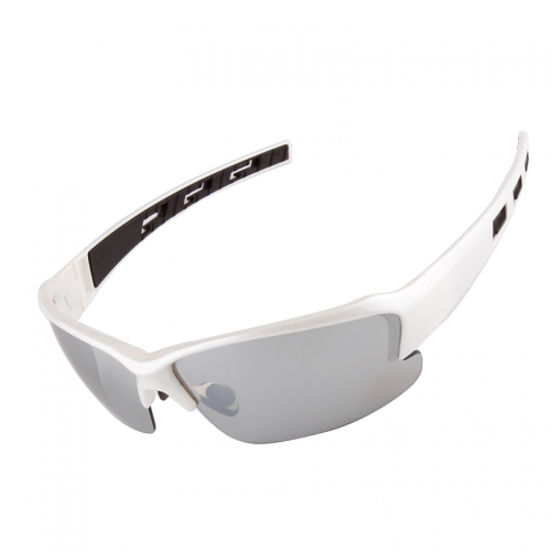 White PC frame fishing sports sunglasses
