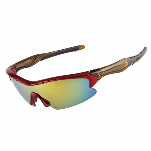 Red coating lens mtb glasses with CE certificated