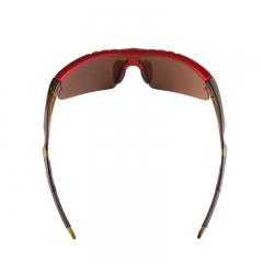 Red coating lens sports glasses