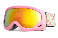2019 wholesale new model kids snowboard goggles with pink frame