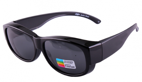 Custom polarized sunglasses over prescription glasses with different coting lens