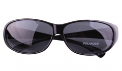 Hot sale style 2019 wear over sunglasses with PC polarized grey lens