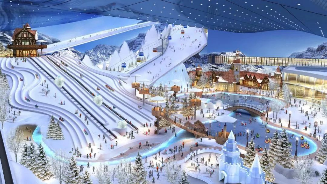 The new indoor ski resort opened in Guangzhou
