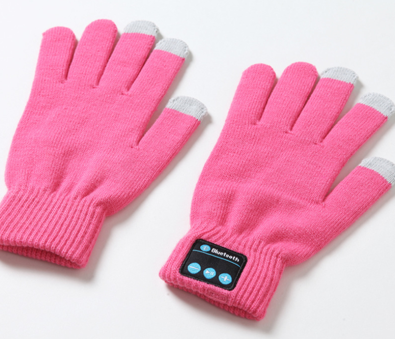 Wear the bluetooth gloves