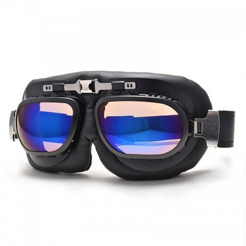 2019 new style vintage motorcycle goggles with clear lens