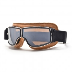 2019 new style brown frame hot sale style vintage aviator goggles