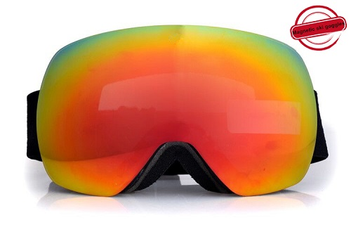 New spherical magnetic snowmobile goggles