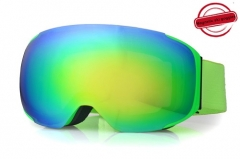 Wholesale neo green frame full REVO gold winter goggles
