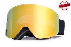 New style magnetic ski goggles with anti- fog REVO coating lens