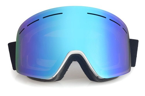 Blue womens snowboard goggles