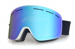 blue women snow goggles