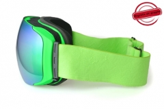 Wholesale magnetic spherical ski goggles with REVO gold lens