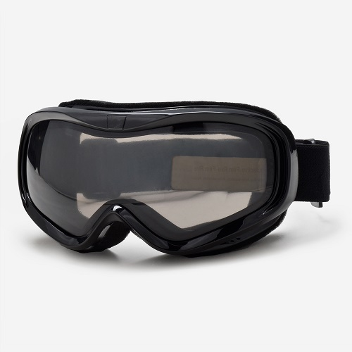 Glossy black frame best snowmobile goggles with customized logo