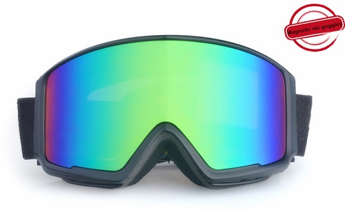 Best new design magnetic function black frame best snowboard goggles