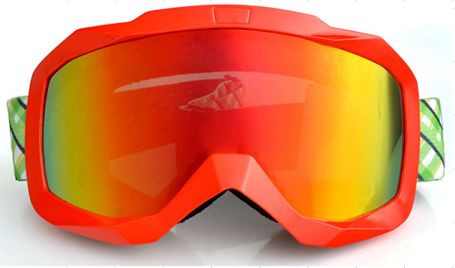Hot sale winter anti fog snowboard goggles with REVO blue lens