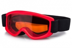 New safe girls ski goggles with red frame