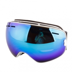 CE approved 2019 New red frame ski goggles over glasses function