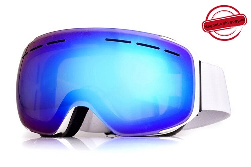 2019 new style hot sale magentic cool ski goggles with ventilation system