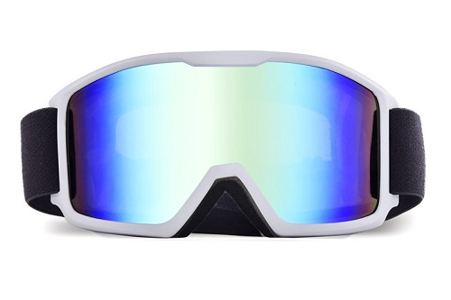 REVO ice blue lens top snowboard goggles for cloudy conditions