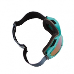 Magnetic lens interchanged reflective ski goggles