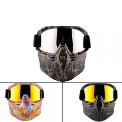 2019 new style motorcycle mask and goggles with CE certificated