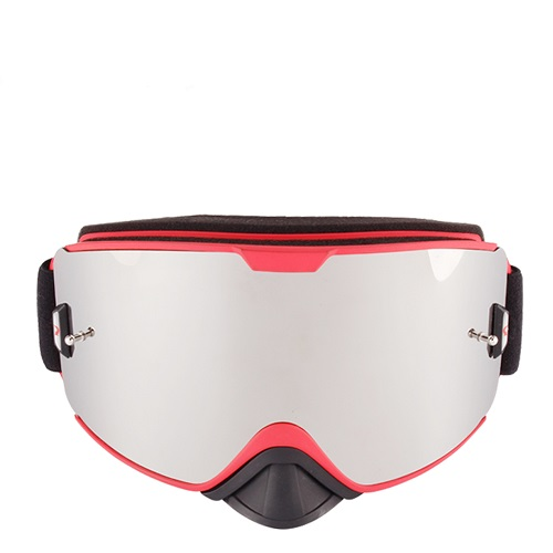 Mirrored coating lens tear off moto goggles
