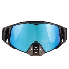 Hot sale style blue revo coating lens motocross glasses