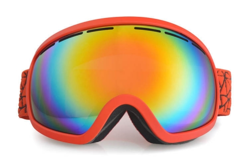 Winter orange frame REVO gold lens the best ski goggles