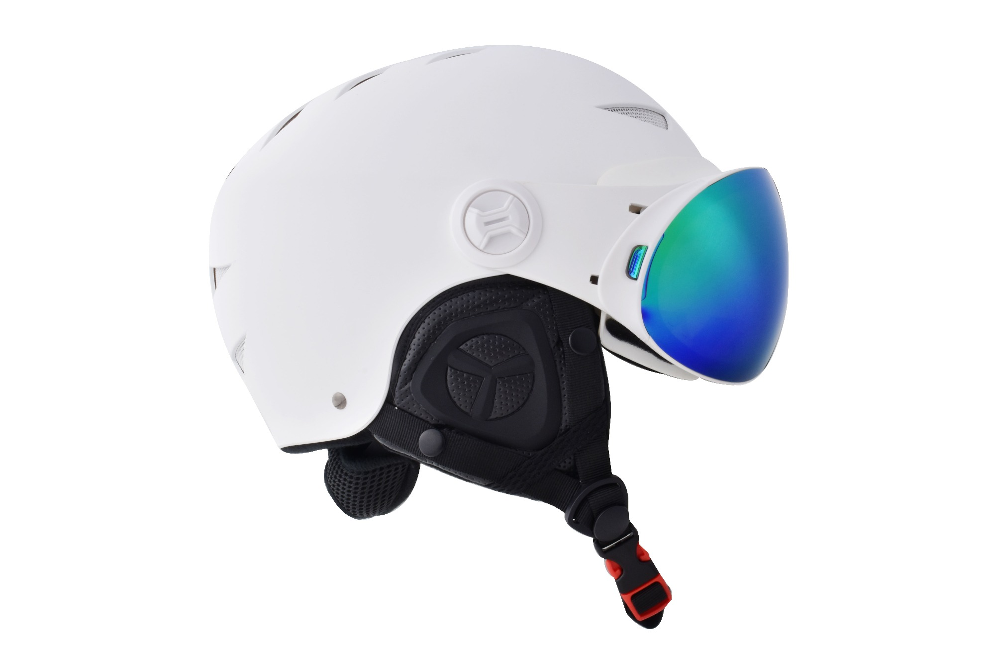 Skiing and ski helmet