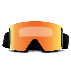 2020 hot sale style magnetic ski glasses, wholesale best ski glasses and snow goggles over glasses function