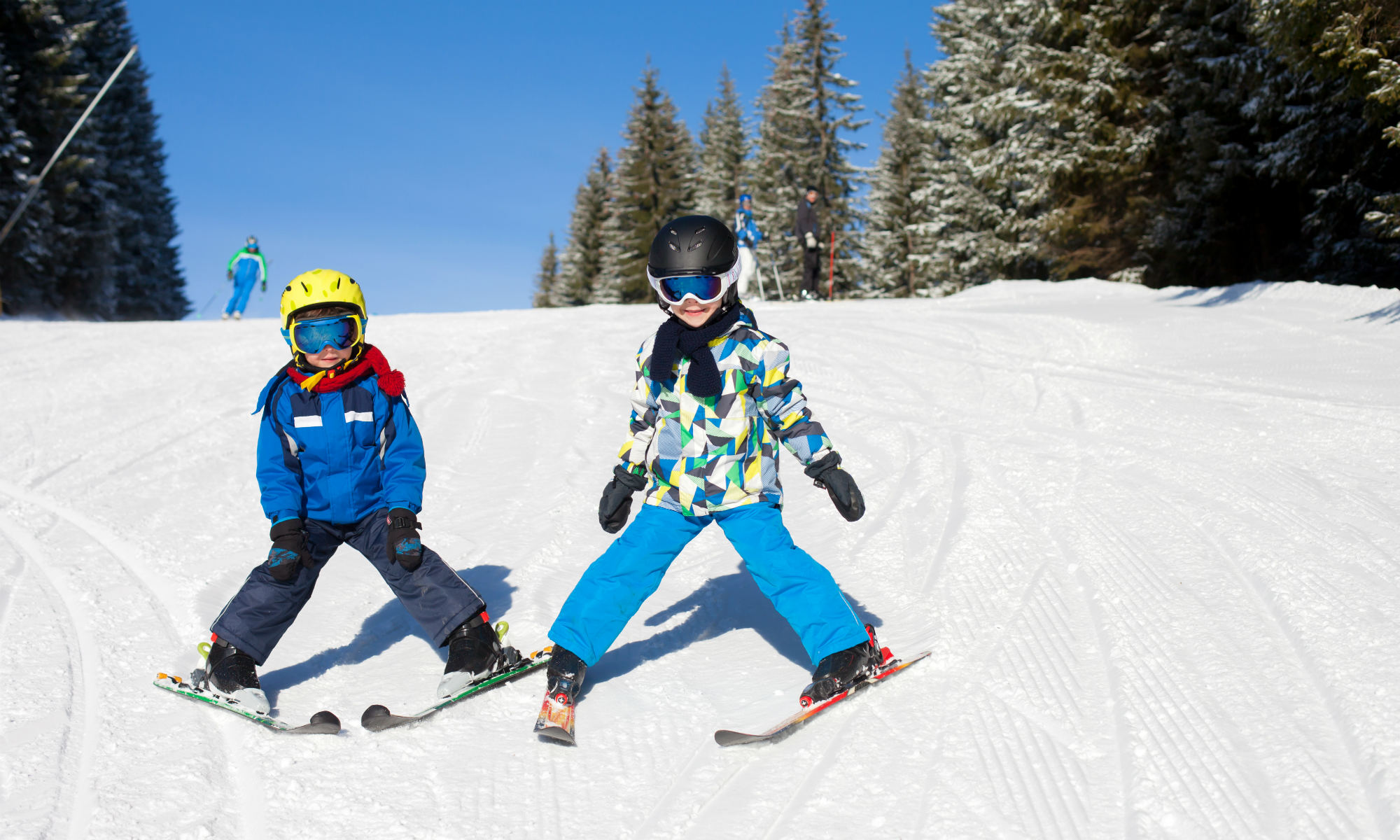 What should I pay attention to when taking my children skiing