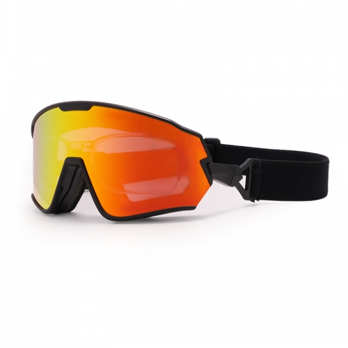 Hot sale new style road bike sunglasses, wholesale sport glasses and interchanged youth snow goggles